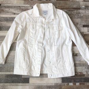 Rails adorable white denim jacket like new size L